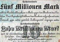 Geldnoten in der Hyperinflation