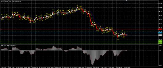 NYMEX Crude Oil Chart 13.01.2014